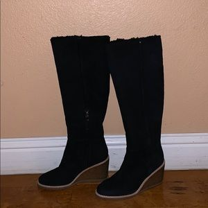 Coach warm wedge boots